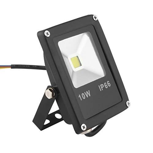 YXDS Luz Exterior AC85-265V 10W Focos LED a Prueba de Agua Lavado de Pared Luz de inundación Foco Jardín Iluminación Exterior Bombilla de lámpara Cuadrada Blanco frío
