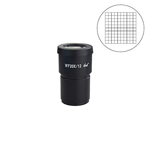 BoliOptics WF 20X Widefield Microscope Eyepiece with Reticle, Net Grid, High Eyepoint, Mounting Size 30mm, Field of View 12mm (One) SZ05013633