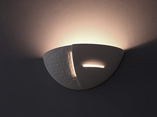 Intemporel Applique murale en blanc E27 60 W 230 V lampe murale en plâtre Salon Couloir Chambre à coucher Lampe Leuchten Éclairage intérieur