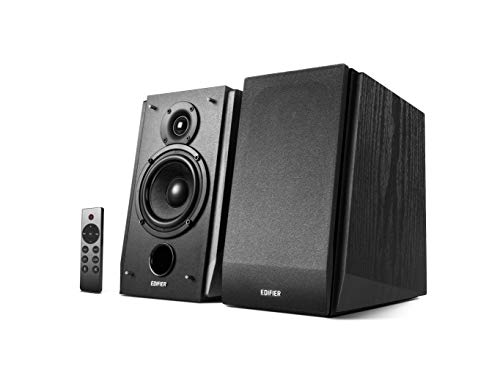 Edifier R1855DB Multimedia 2.0 Bookshelf Speaker with Bluetooth 5.0, Optical,Coaxial line in with Sub Out