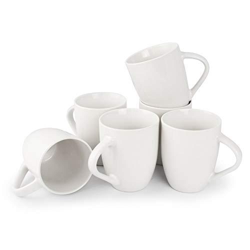 Werbewas Basic, weiß, 6er Set - Keramik Kaffeetassen ohne Druck zum bemalen und basteln geeignet - Simple Kaffeebecher zum Personalisieren - 300ml - Tassen/Becher/Pott für Kaffee, Tee und mehr