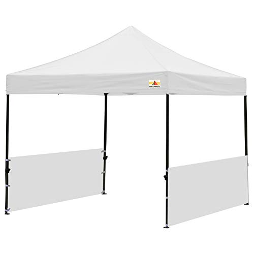 ABCCANOPY Sunwall Accessory, Two Half Walls for 10'x10', 10'x15', 10'x20' Pop Up Paty Canopy(2 Half Walls Only. Canopy Purchased Separately) (White)