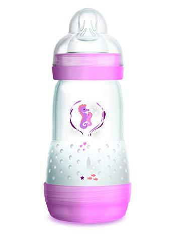 Mam Easy Start Biberon Anticolica, Autosterilizzante con Tettarella Mis 2, 260 ml, rosa