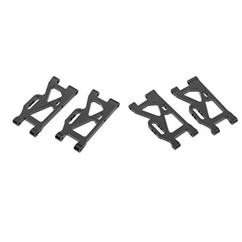 lahomia Paquete de 4 Brazos Oscilantes Inferiores Traseros de Metal 1:14 Modelo RC para Repuesto de Coche 144001