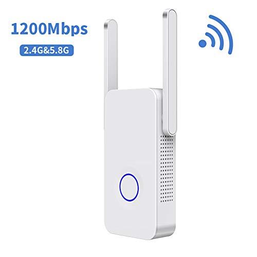 UPANV 1200 Mbit/S WiFi Extender Leistungsstarke Dualband Internet Signal Booster Wireless Repeater 2,4 Ghz 5 Ghz Wi-Fi Range Extender Antenne