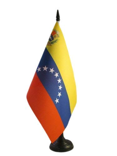 AZ FLAG Bandera de Mesa de Venezuela 21x14cm - BANDERINA de DESPACHO VENEZUELANA 14 x 21 cm