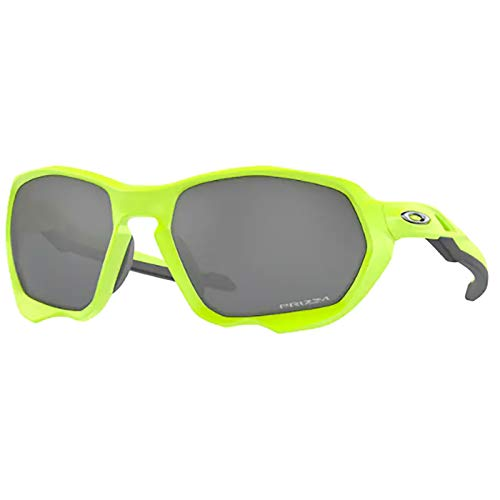 Oakley Men's OO9019A Plazma Asian Fit Rectangular Sunglasses, Matte Retina Burn/Prizm Black, 59mm