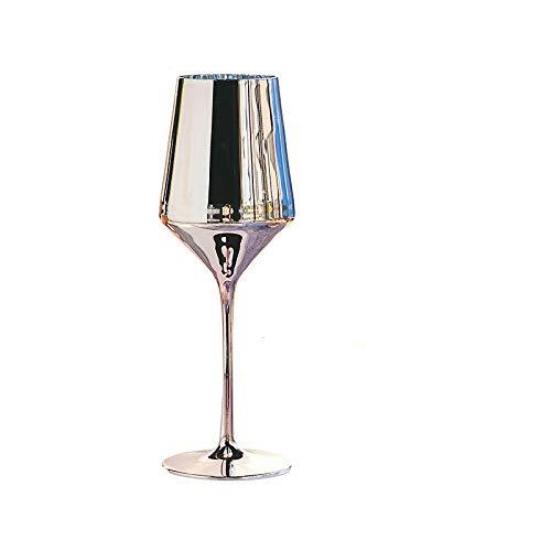Copa De Vino De Cristal Para Galvanoplastia, Oro Rosa, Copa De Gran Capacidad, 2 Juegos, Christmas-380Ml