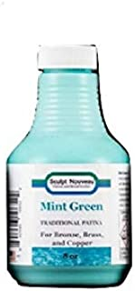 Amjay Paints 8 Oz Traditional Patina - ANTIQUING And 8 Oz Traditional Patina - MINT GREEN For Metal polishing