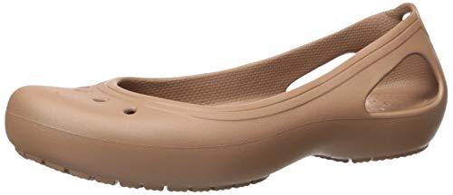 Crocs Damen Kadee Leopard Print Casual Kleid Schuh | Komfort Mode Flach, (Bronze), 45 EU