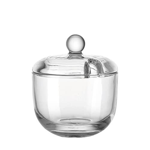 Leonardo 061141transparent Glas Zuckerdose–Zuckerdose (90mm, 90mm, 105mm)