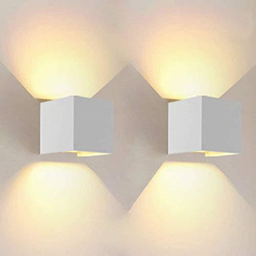 Lámpara de pared LED de 12W AFSEMOS Apliques, 3000K Blanco Cálido,Ángulo de haz Ajustable para Pasillo Interior Decoración,Sala de estar, iluminacion led interior,Dormitorio (Blanco Cálido),2 Piezas