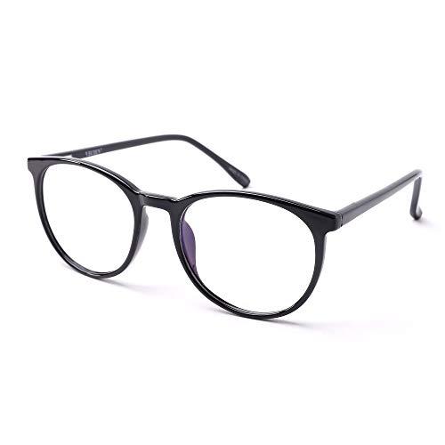 VECIEN Blaulicht Computer brille, TR90 robuste Rahmen mit matte Oberfläche, Federscharniere für stilvolles Aussehen, Anti-Augenschmerzen/Kopfschmerzen Erhalten Sie geistige Befriedigung (balck)