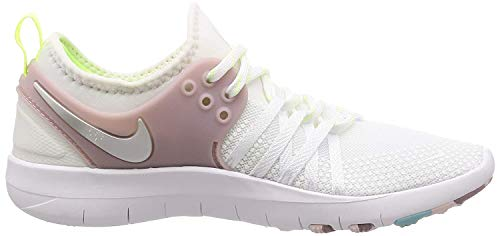 Nike Damen Trainingsschuh Free Trainer 7 Sneaker, Weiß (White/Elemental Rose/Volt Glow/Metallic Silver 102), 38 EU