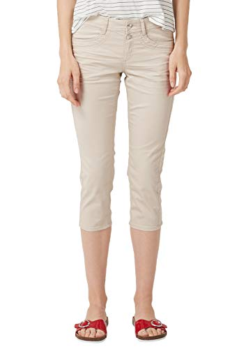 s.Oliver RED Label Damen Shape Capri: Stretchige Twillhose Sandstone 44
