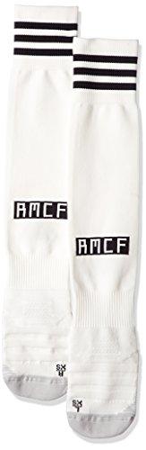 adidas Real Home - Calcetines hasta la rodilla para adultos, Football espagnol, otoño/invierno, Real Home., Unisex adulto, color Color blanco y negro., tamaño EU 31-33