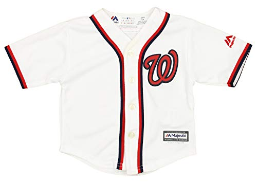 Outerstuff MLB Baby Washington Nationals Team Finished Home Replica Jersey, 18 Months