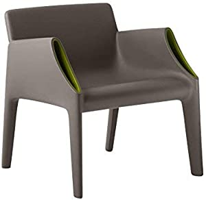 Kartell 6046/C3 Magic Hole Poltrona, Grigio/Verde