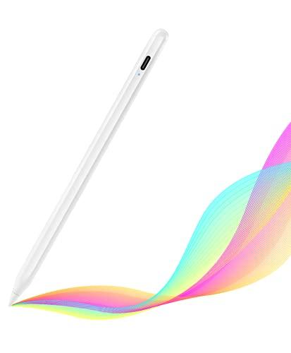 TOCLL Stylus Pen für iPad, Stift mit Palm Rejection & Magnetic Adsorption, Active Pencil mit Feiner Spitze, Kompatibel mit iPad Pro 11 (1/2), Pro 12.9 (3/4), iPad 6/7/8, iPad Air 3/4, iPad Mini 5