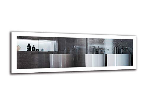 Espejo LED Premium - Dimensiones del Espejo 150x50 cm - Espejo de baño con iluminación LED - Espejo de Pared - Espejo de luz - Espejo con iluminación - ARTTOR M1ZP-50-150x50 - Blanco frío 6500K