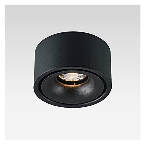 YSJJJBR Foco Empotrable LED Superficie Redonda Ultra Delgada montada LED COB Downlights LED 7W / 10W / 12W Luces de Techo AC110~240V LED Iluminación de lámparas de Fondo