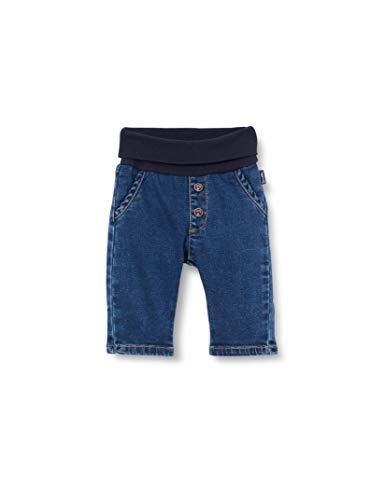 Sanetta Baby-Jungen Hose aus Webstoff blau Jeans, Dark Blue, 92