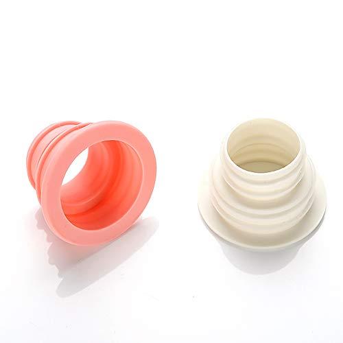 mxdmai 2PCS égouts Joint Tuyau de vidange d'égout Branchez Joint Rondelle réservoir Silicone Déodorant Pipeline (Couleur aléatoire)