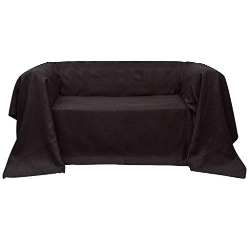 vidaXL Tagesdecke Decke Plaid Sessel Sofaüberwurf Wildlederoptik 210 x 280 cm
