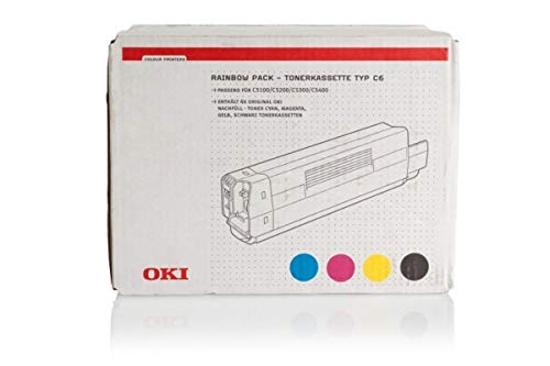 OKI C 5150 N (C6 / 42403002) - original - Toner MultiPack (schwarz, cyan, magenta, gelb) - 5.000 Seiten