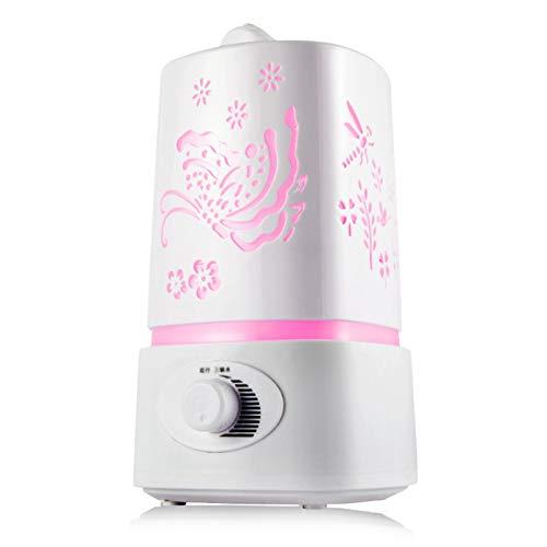 Humidificador Ultrasónico Humidificador ultrasónico, Humidificadores de aire tranquilo 1.5L con luz nocturna, auto-apagado sin agua, para la oficina de la habitación de los niños del dormitorio Humifi
