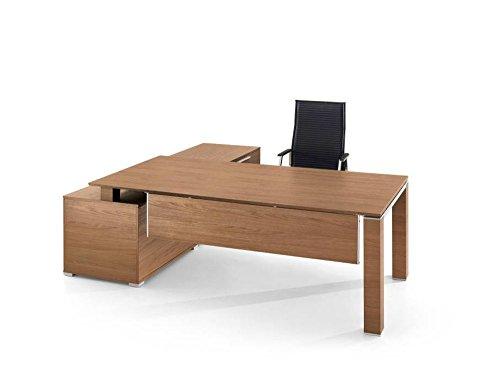 Bralco Schreibtisch mit Sideboard Jet Designer Chefschreibtisch,Chefzimmer, Büroeinrichtung