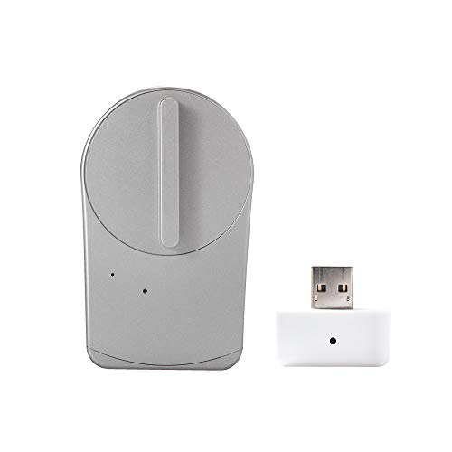 【Works with Alexa認定製品】 セサミ mini スマートロック本体 シャンパンシルバー + Wi-Fiアクセスポイント 取付簡単 スマートフォンでドアを施錠解錠 Google Assistant/Siriショートカット/Apple Watc