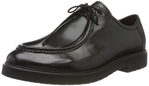 Clarks Herren Ashcroft Seam Brogues, Schwarz (Black Leather), 42.5 EU