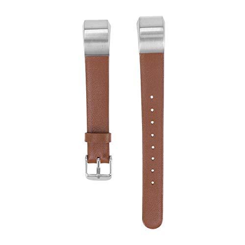 Smartwatch substitui pulseira de couro pulseira de relógio compatível para Fitbit Alta HR (marrom)