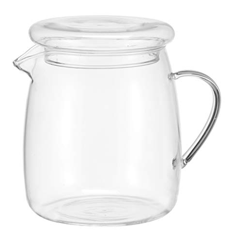 HI theepot glas (1,4 liter) - theepot met stoofje, glazen kan thee, glazen kan met stoofje set, theepot met warmer, theepot glas design