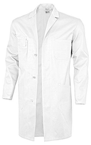 Qualitex Basic Arbeitskittel, 100 % Baumwolle, 240 g/m², Weiß, Größe 44, Herren, 61951DF, Weiss, 68
