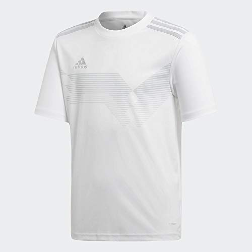 adidas Campeon 19 Jersey, Maglia Unisex Bambini, White/Clear Grey, 176