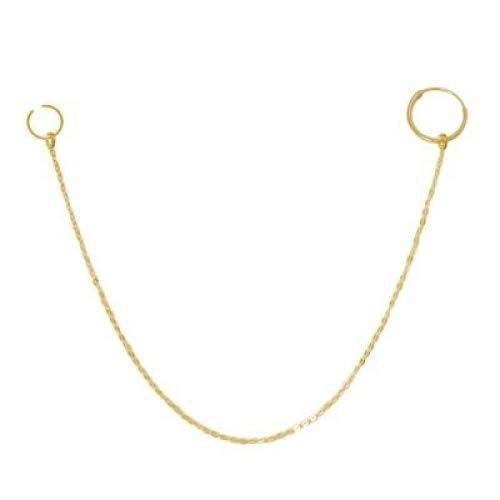 Vergoldete Nasenkette mit Ringen