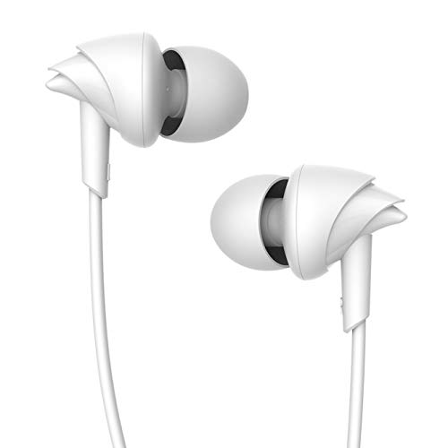 boAt Bassheads 100 in Ear Wired Earphones with Mic(White)