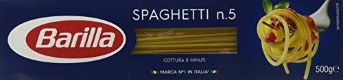 Barilla - Spaghetti n. 5, Pasta di Semola di Grano Duro - 5 pezzi da 500 g [2500 g]