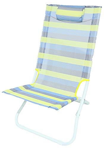 Meerweh Strandstuhl, blau/gelb