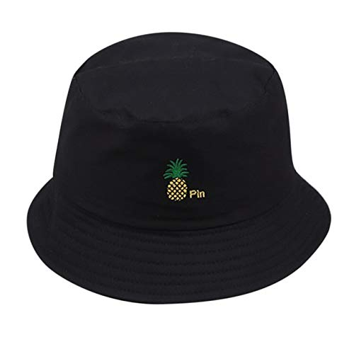Mdsfe emmer hoed vrouwen mannen unisex vissen strandhoed mode wilde zon hoed outdoor vrouw hoed grote rand hoed k236 Black-A236