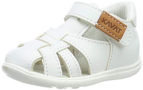 Kavat Unisex-Kinder Rullsand Geschlossene Sandalen, Weiß (White 988), 22 EU