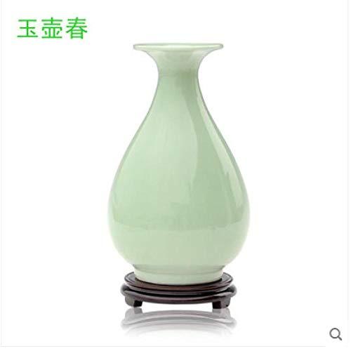Porseleinen vaas, Bloemschikking, Woonkamer in Chinese stijl, Huismeubels, Wijnkast Ambachten Decoratie, 23 * 14cm