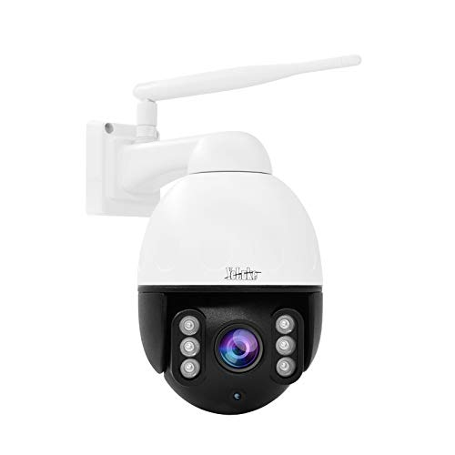 YoLuke 5MP ptz Camera Outdoor Human&Motion Detection Tracking 4X Pan Tilt Zoom WiFi Wireless IP Camera Built-in Two Way Audios Support IP66 Waterproof,Alarm Siren,and Pet Monitoring