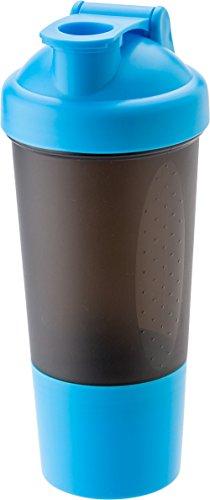 Giving Proteinshaker mit 100 g zusätzliches Pulverfach Shaker inkl Metall Ball Protein Shake Becher