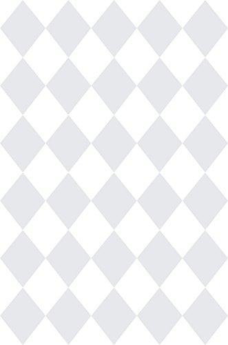 Rasch Textil Papiertapete Tapete - Kollektion Bimbaloo 2- 330228 Rauten Weiß Grau
