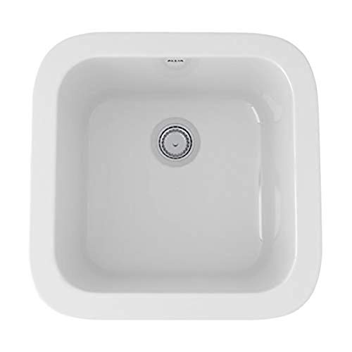 Rohl 5927-00 FIRECLAY KITCHEN SINKS, 17-7/8-Inch W by 17-1/2-Inch D by 9-Inch H, White (00)