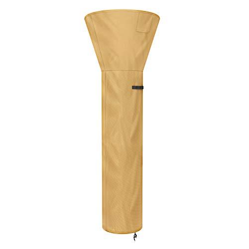 Sunkorto Abdeckung für Terrassenheizung, rund, stehend, wasserdicht, für Veranda-Möbel, Abdeckung für Kuppelheizungen, Oxford-Stoff, 241 cm hoch, Khaki