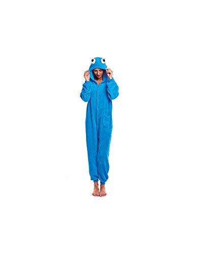 DISBACANAL Disfraz Monstruo Azul Kigurumi Adulto - -, M